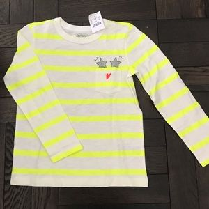 NWT J.CREW GIRLS LS TOP SIZE 6/7 - 🤩 SO COOL!